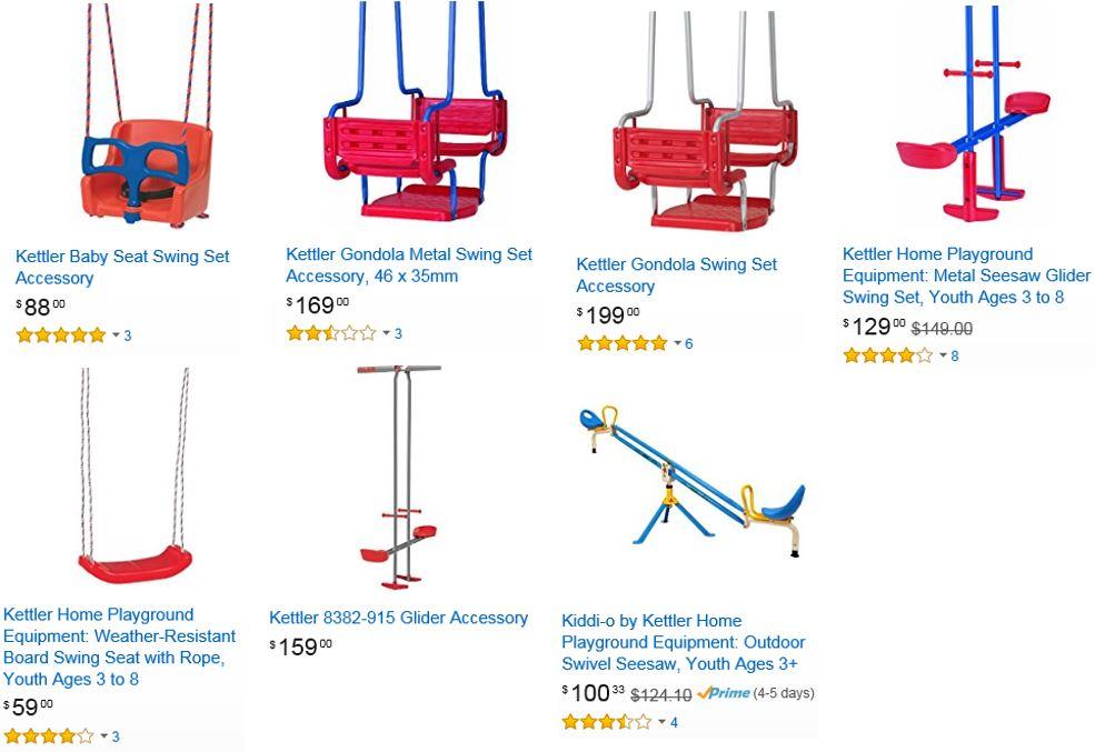 Kettler Swinga set accessories Amazon