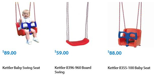 Kettler Swing set accessories Walmart