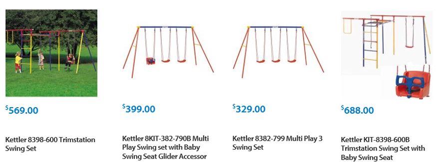 Kettler Swing sets Walmart