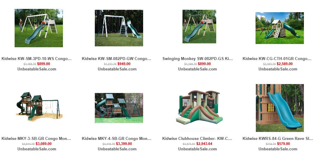 Kidwise swing sets reviewed at Unbeatablesale