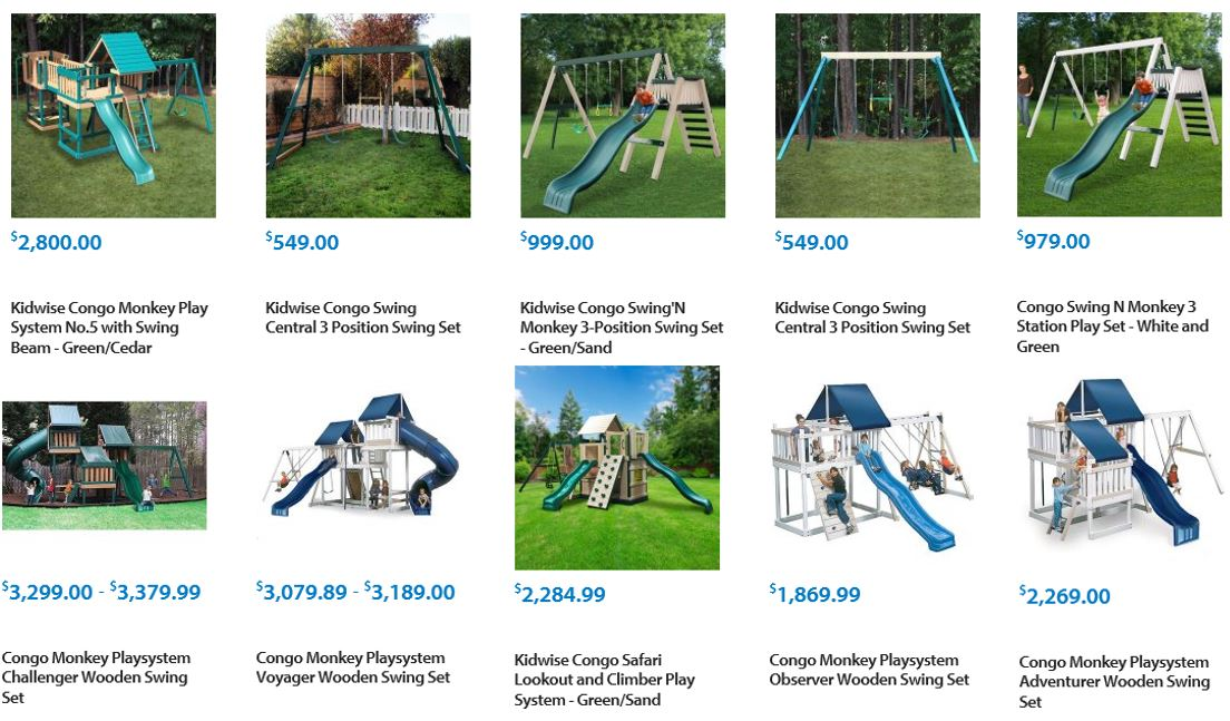 Kidwise swing sets reviewed at Walmart