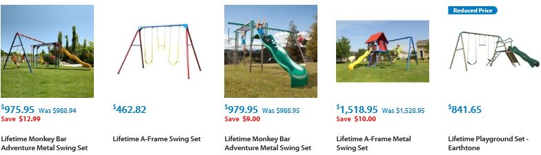 Lifetime Metal Swing sets from Walmart