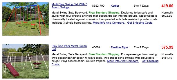 Metal Swing Sets Chicago Willygoat Swing Set Specialist