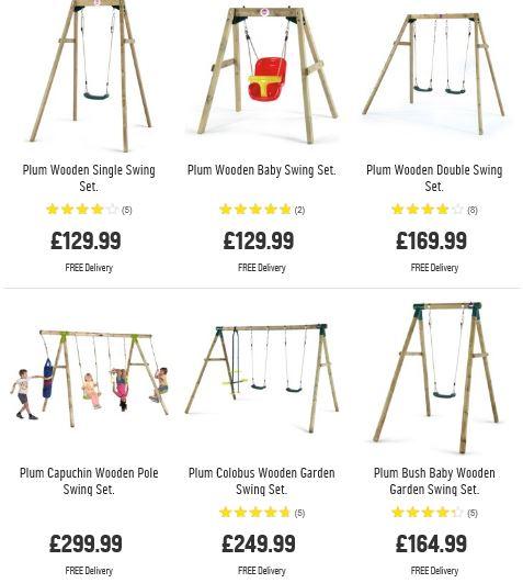 Plum Swing Sets 1, Argos UK