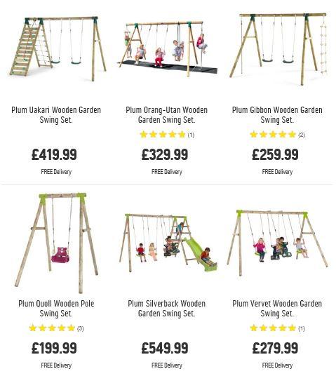 Plum Swing Sets 2, Argos UK