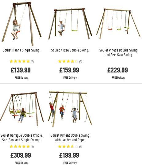 Soulet Swing Sets, Argos UK