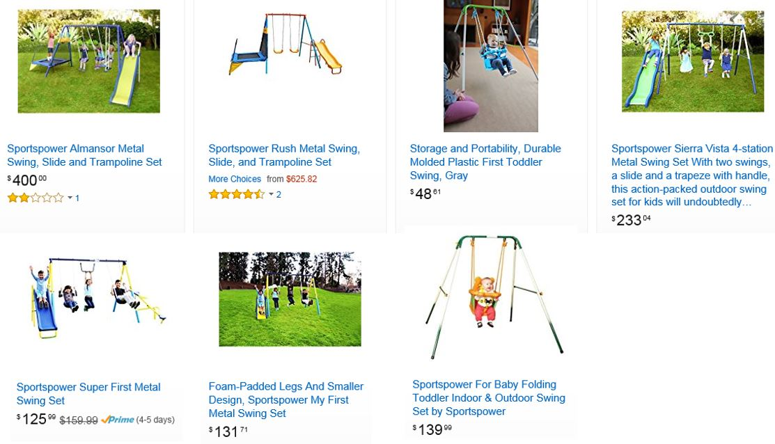 Sportspower Swing Sets, 2, Amazon