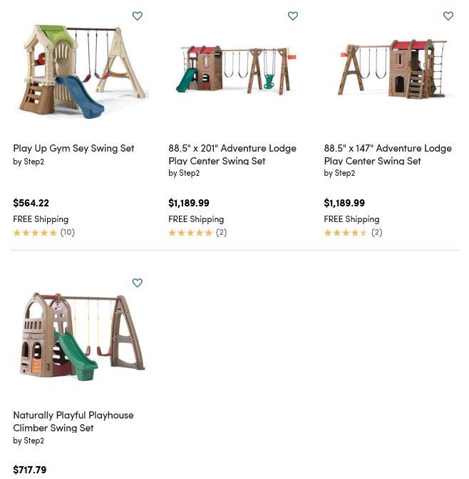 Step2 Plastic Swing Sets, Wayfair