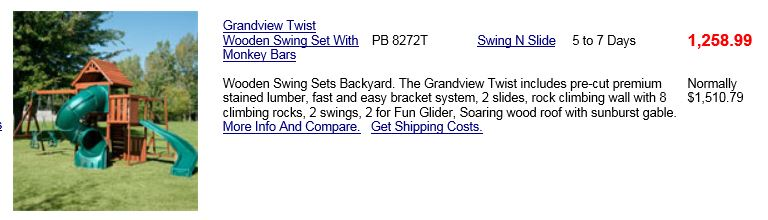 Swing N slide Playset from Willygoat