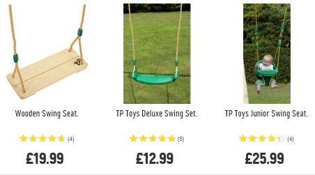 TP Swing seats Argos UK
