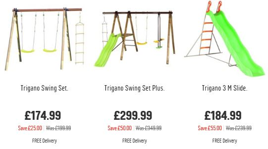 Trigano Jardin Swing sets, Argos UK