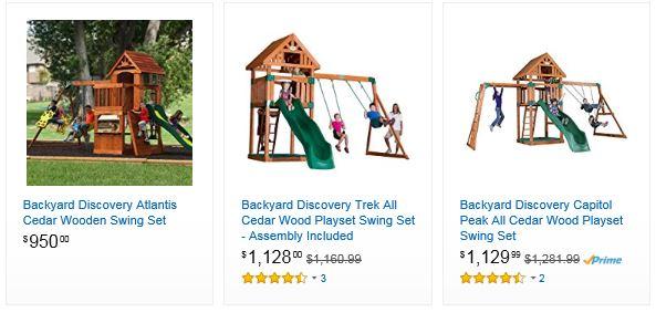Wooden Swing Sets Amazon Michigan Swing Set Specialist