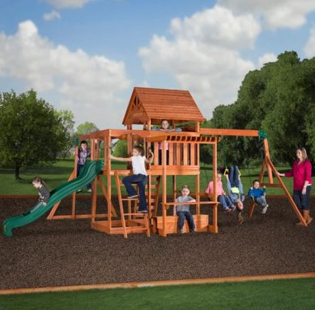 Backyard Playset Reviews backyard discovery monticello cedar swing set reviews – everything