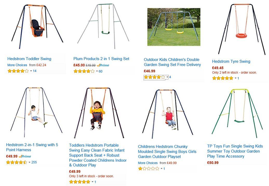 Cheap swings UK, Amazon UK