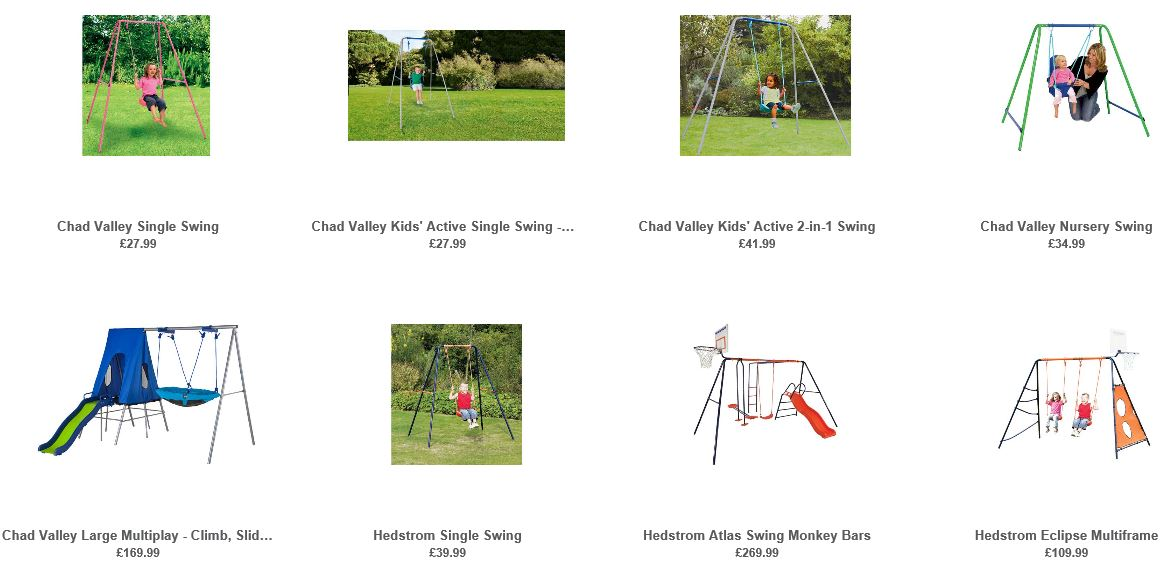 Cheap swings UK, Argos UK