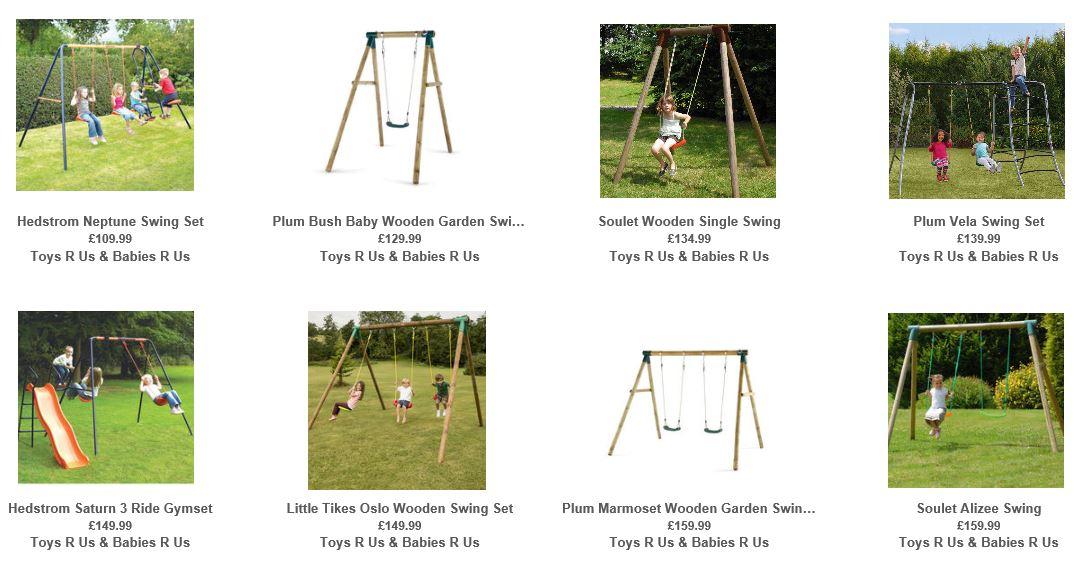 Cheap swings UK, Toys R Us UK