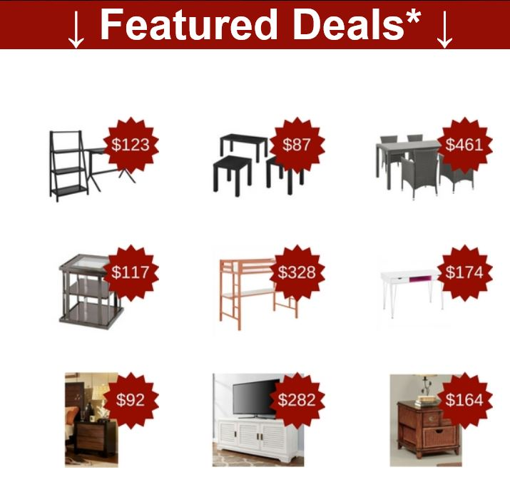 Featured deals from Totally Furniture