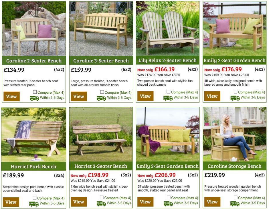Garden Benches from One Garden UK 2