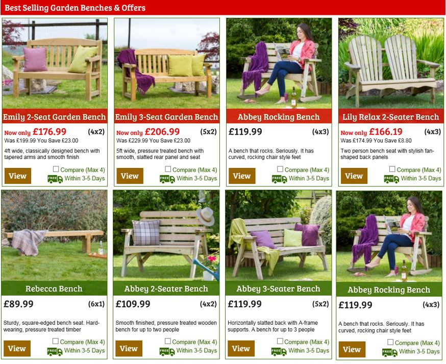 Garden Benches from One Garden UK