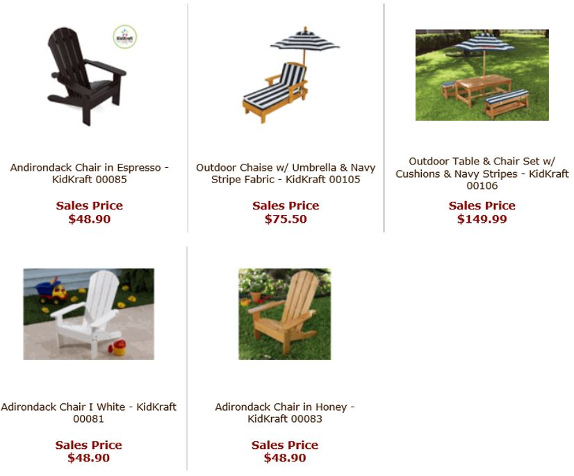 Outdoor for Kids from Totally Furniture