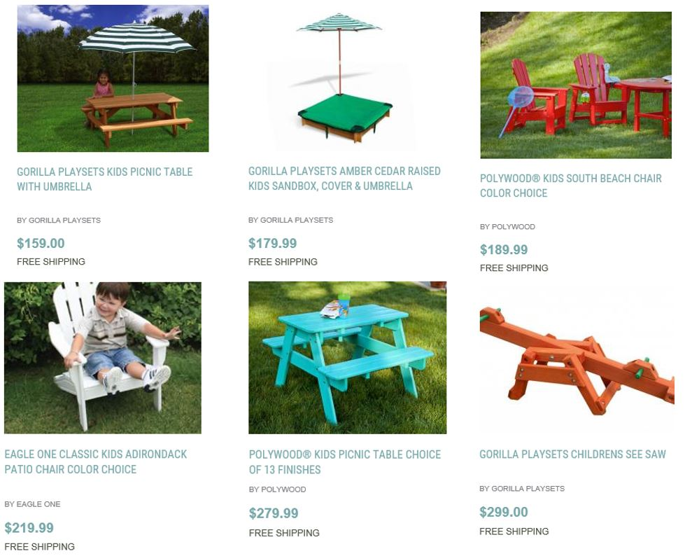 ... Outdoor For Kids, Home And Patio Decor Center 2