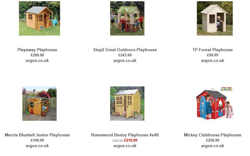 Playhouses from Argos UK 1