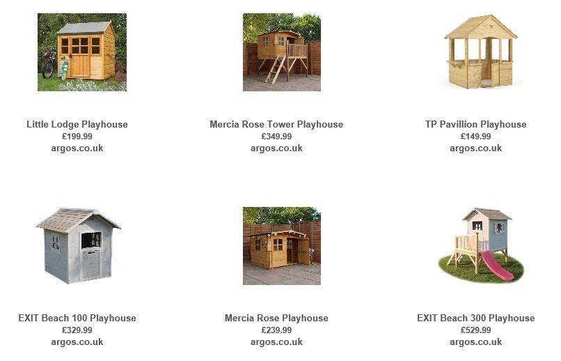 Playhouses from Argos UK 2