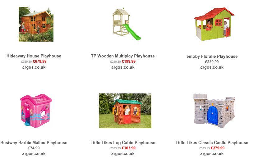 Playhouses from Argos UK 3