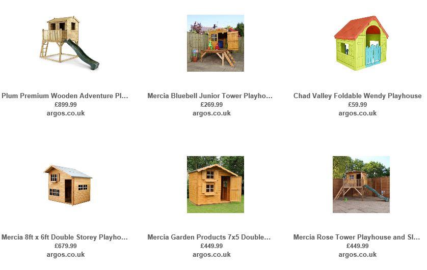 Playhouses from Argos UK 4