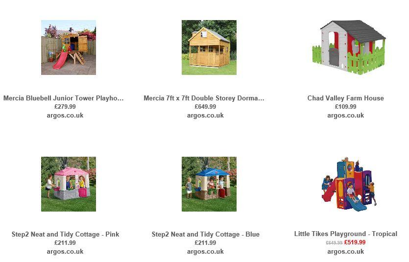 Playhouses from Argos UK 5