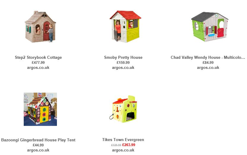 Playhouses from Argos UK 6