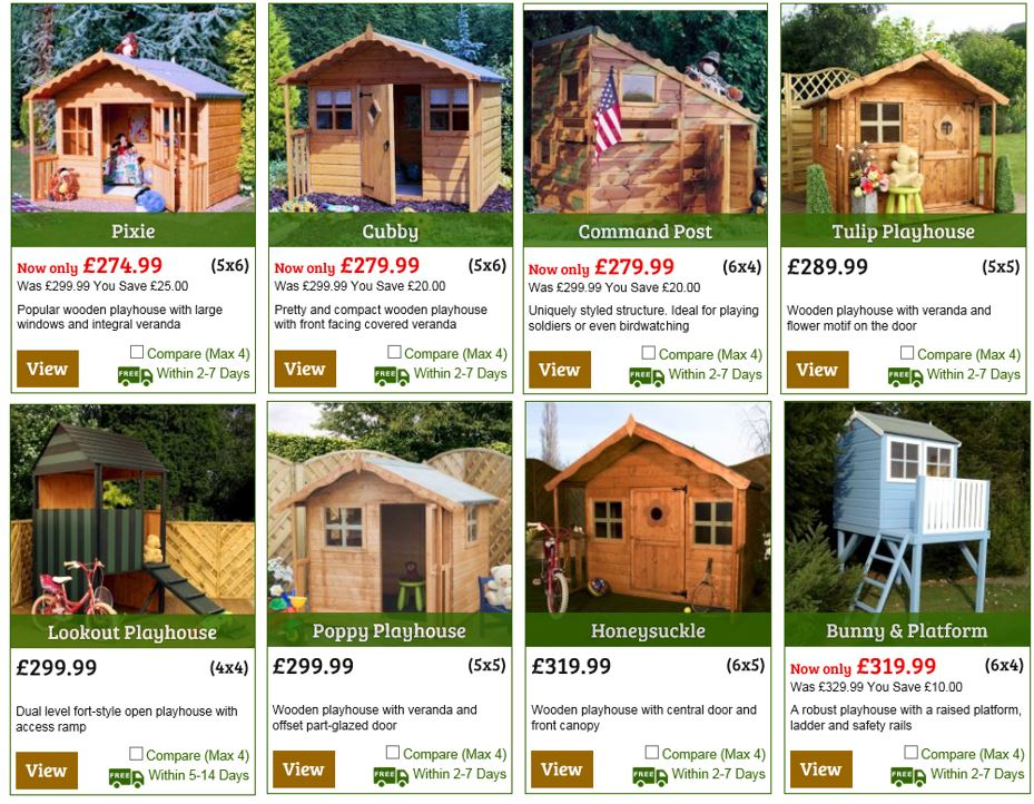 Playhouses from One Garden UK 2