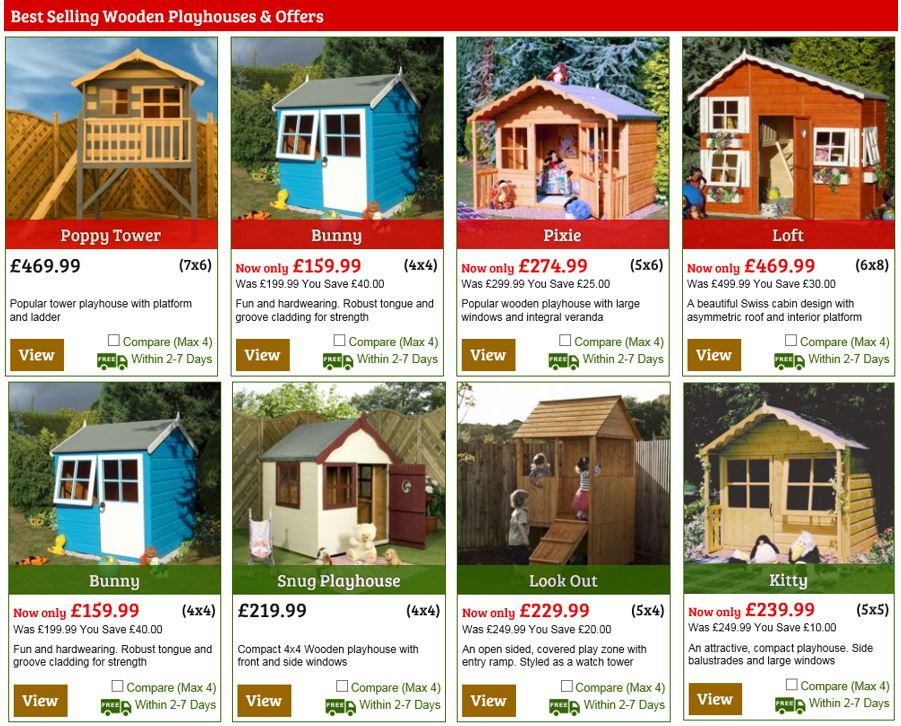 Playhouses from One Garden UK