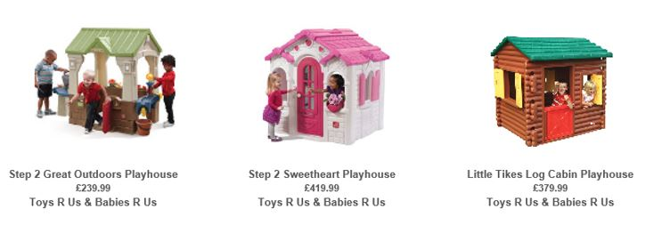 Playhouses from Toys R Us UK 2