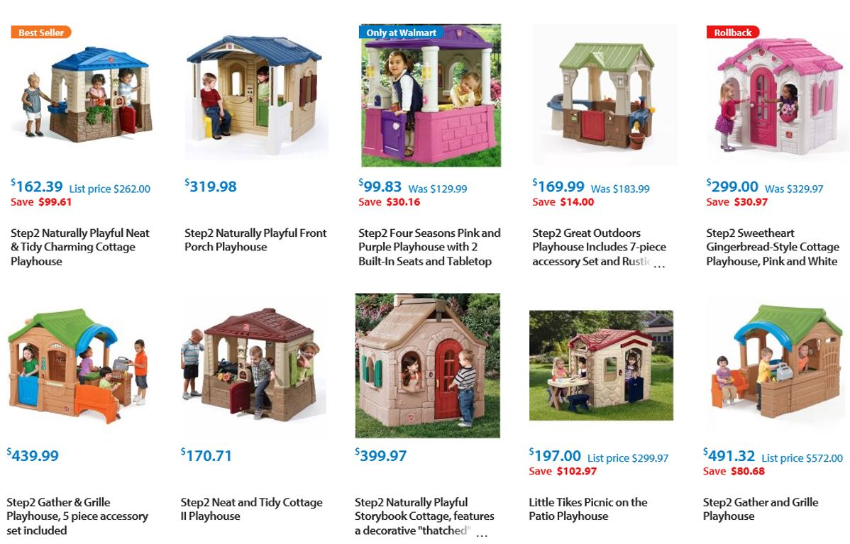 Playhouses from Walmart 1