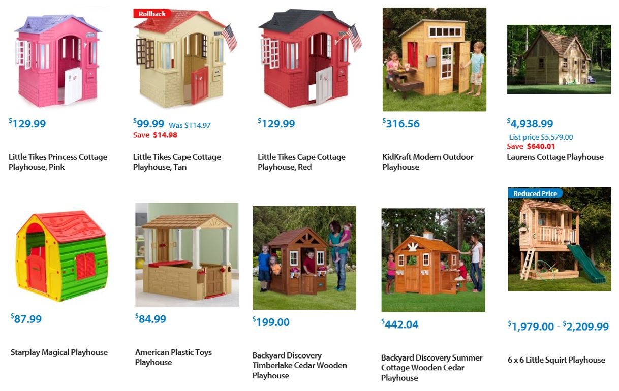 Playhouses from Walmart 2