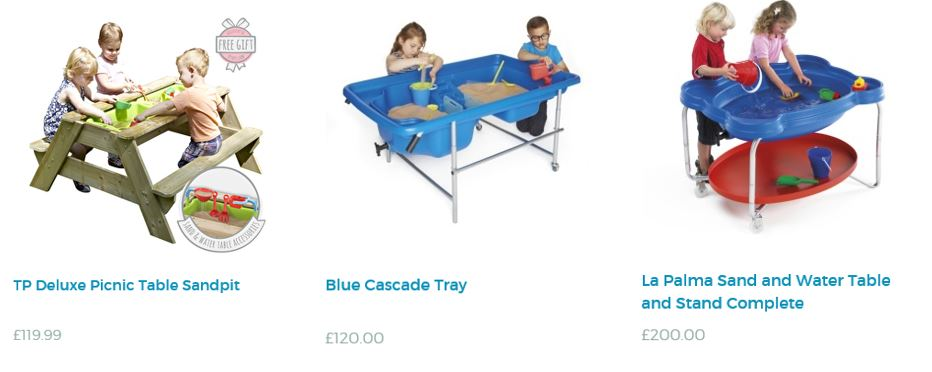 Sand pits and tables from TP Toys UK 2