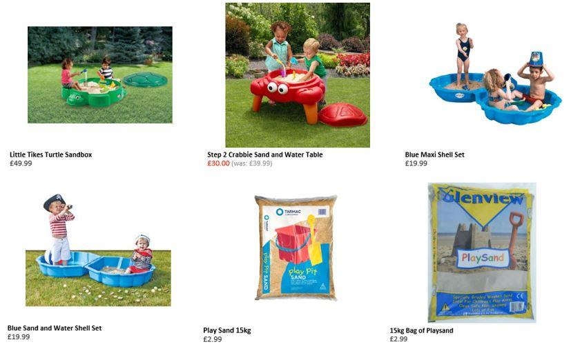 Sand pits from Smyths Toys UK 2