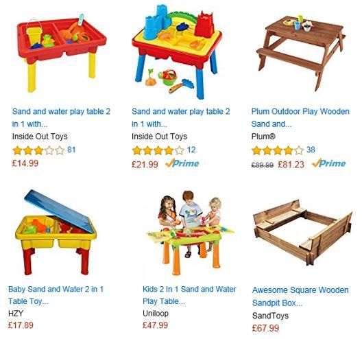 Sandboxes from Amazon UK 2