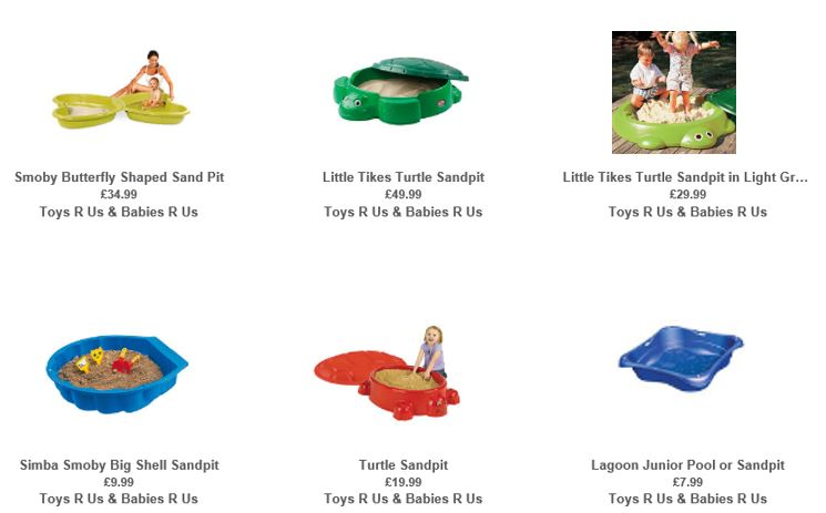 Sandboxes from Toys R Us UK 1