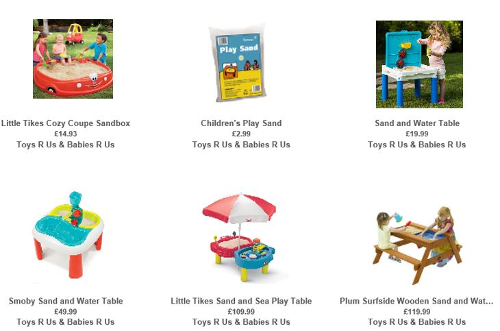 Sandboxes from Toys R Us UK 2
