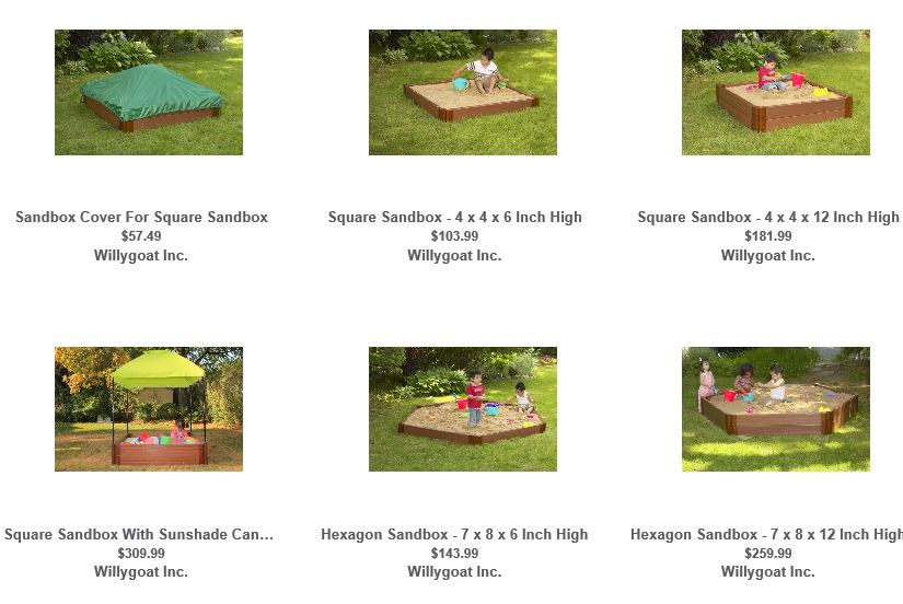 Sandboxes from Willygoat 1