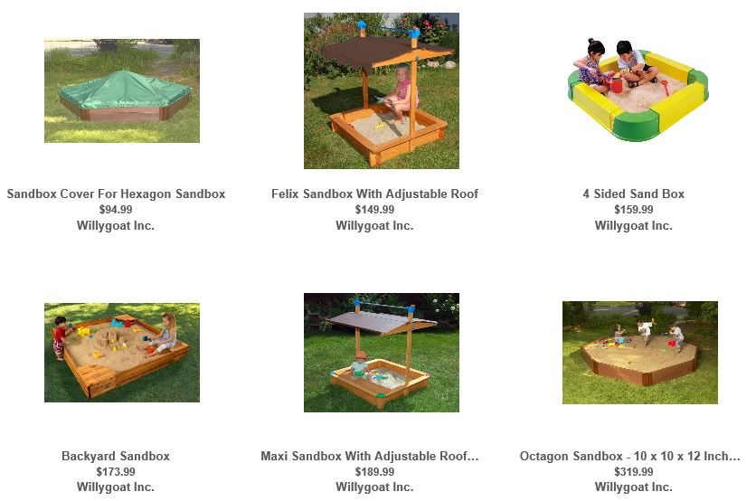 Sandboxes from Willygoat 2