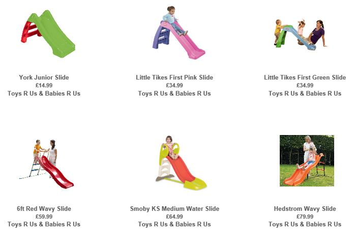 Slides from Toys R Us UK