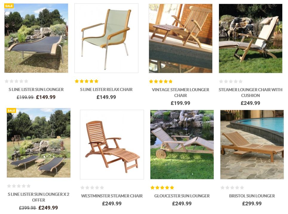 Sun Loungers From The Garden Furniture Centre UK ...