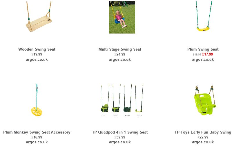 Swing accessories from Argos UK 1