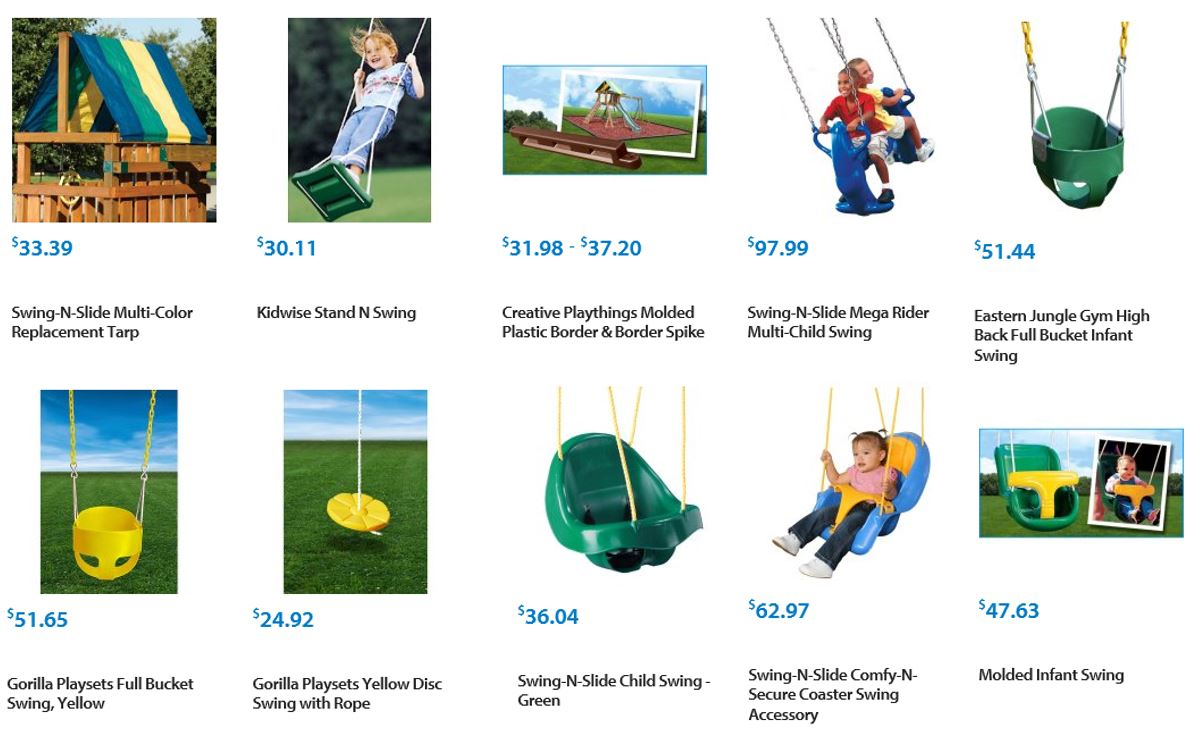 Swing accessories from Walmart 2