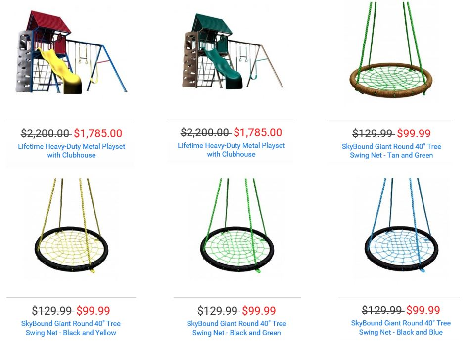 Swings from Trampoline Parts and Supply