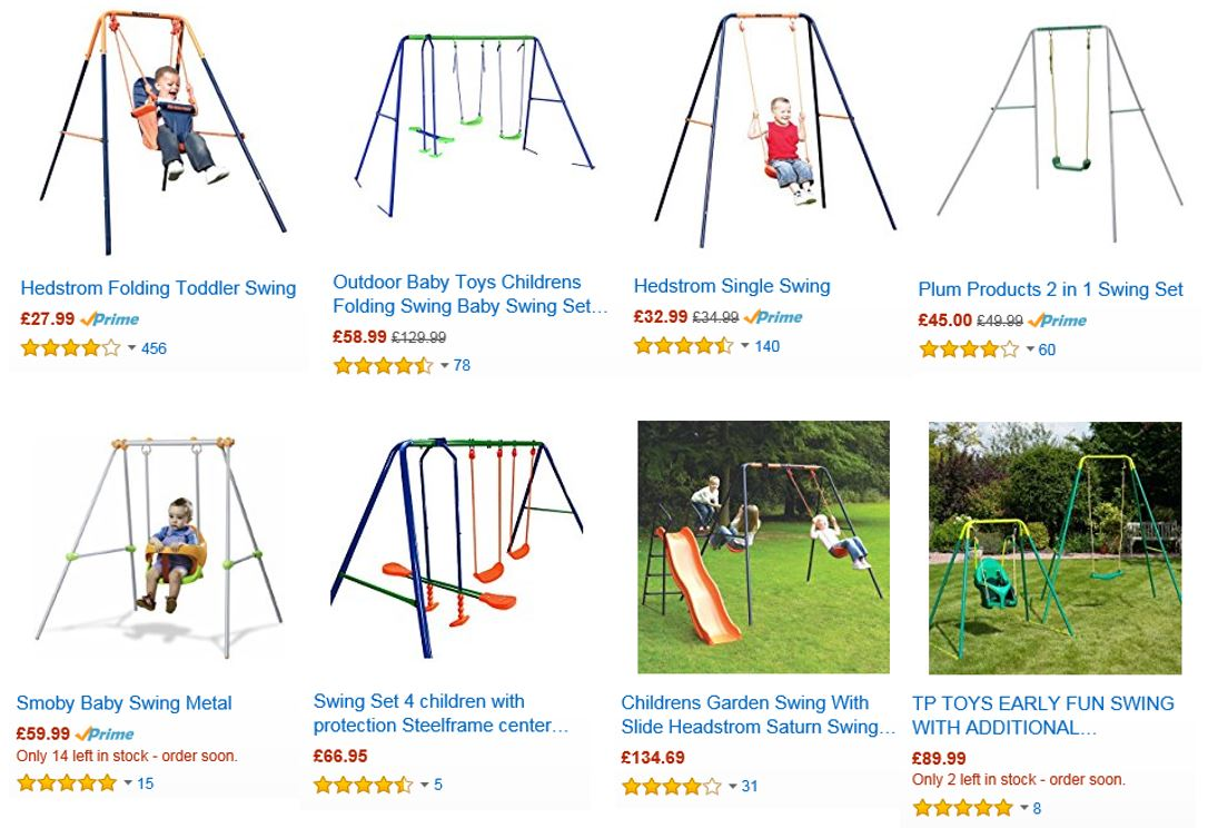 Top Rated Metal Swing Sets UK, Amazon UK