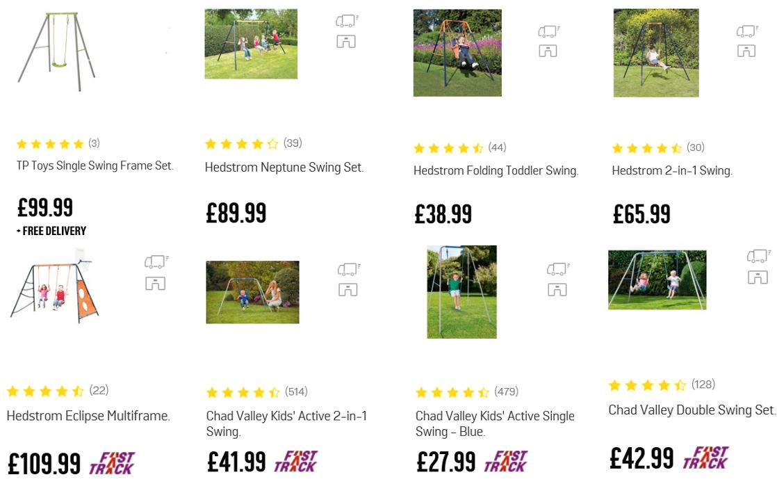Top Rated Metal Swing Sets UK, Argos UK